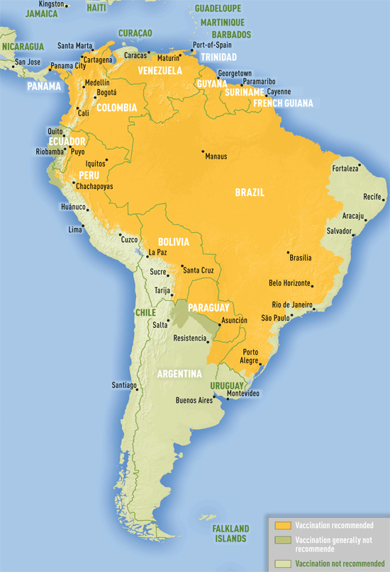 south-america-yellow-fever-map